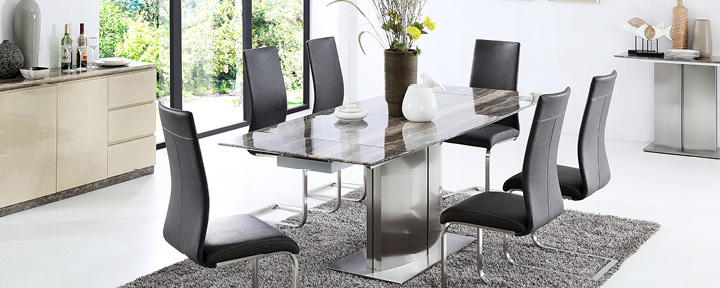 Glass/Marble Dining Sets