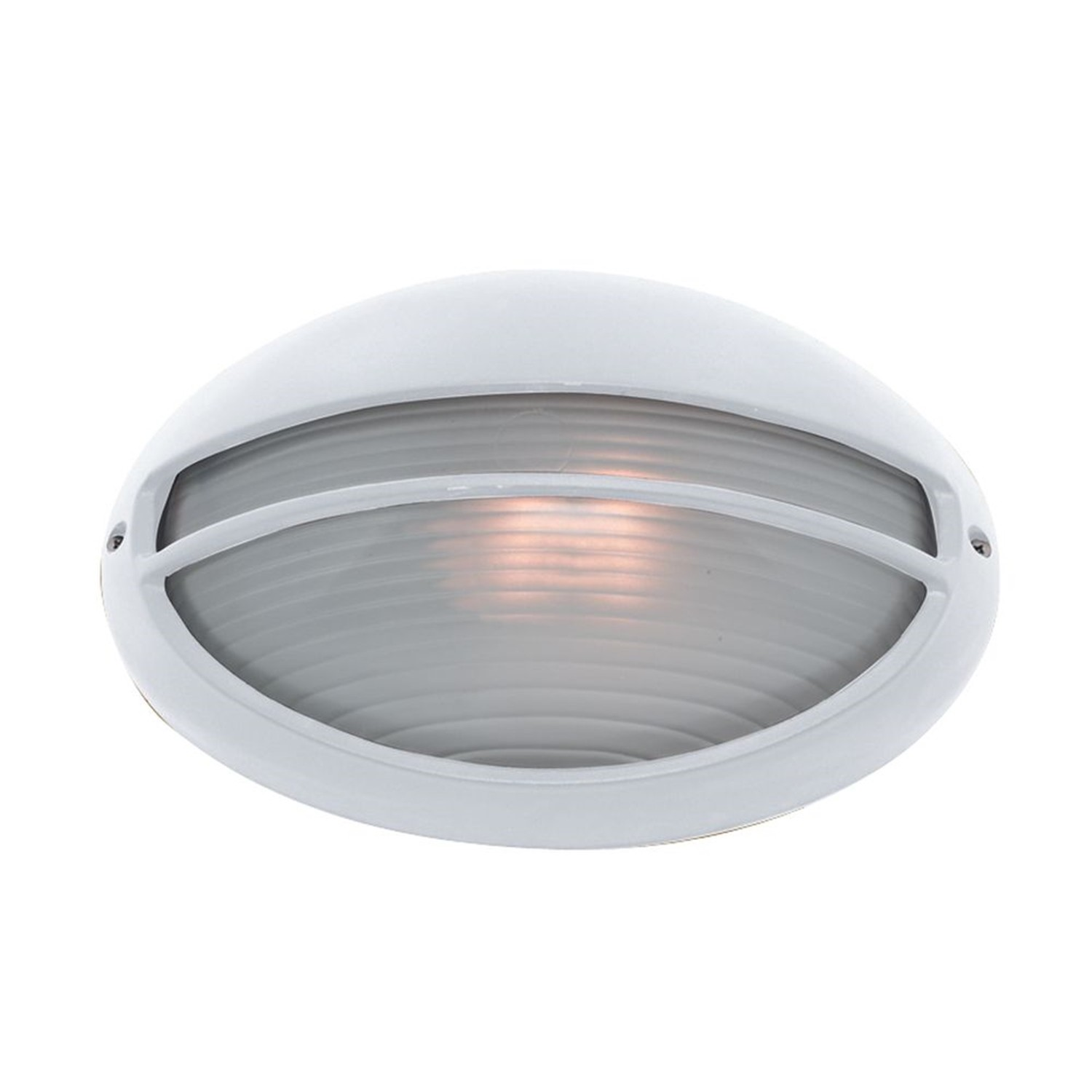 Oval Bulkhead Outdoor Light White