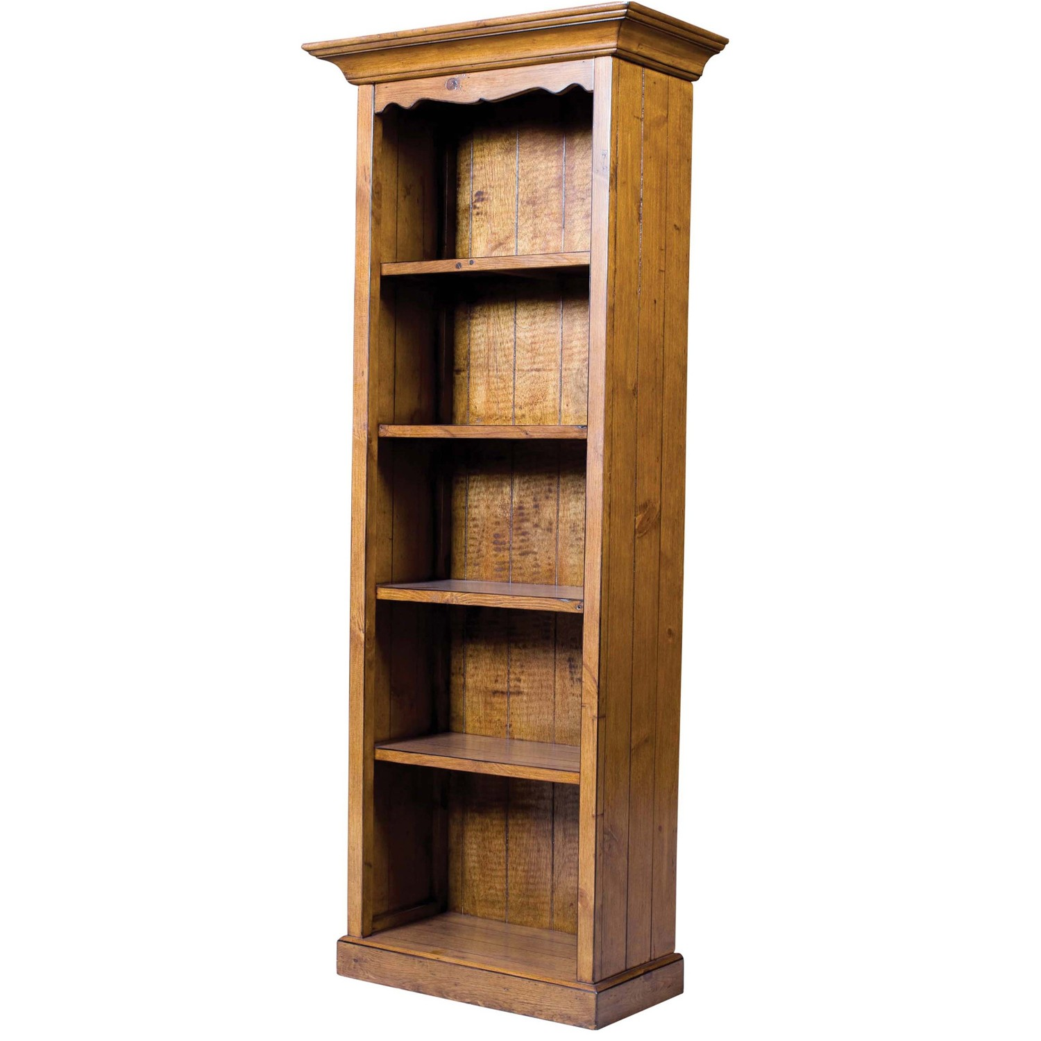 small brown bookcase slumberland cross island. Black Bedroom Furniture Sets. Home Design Ideas