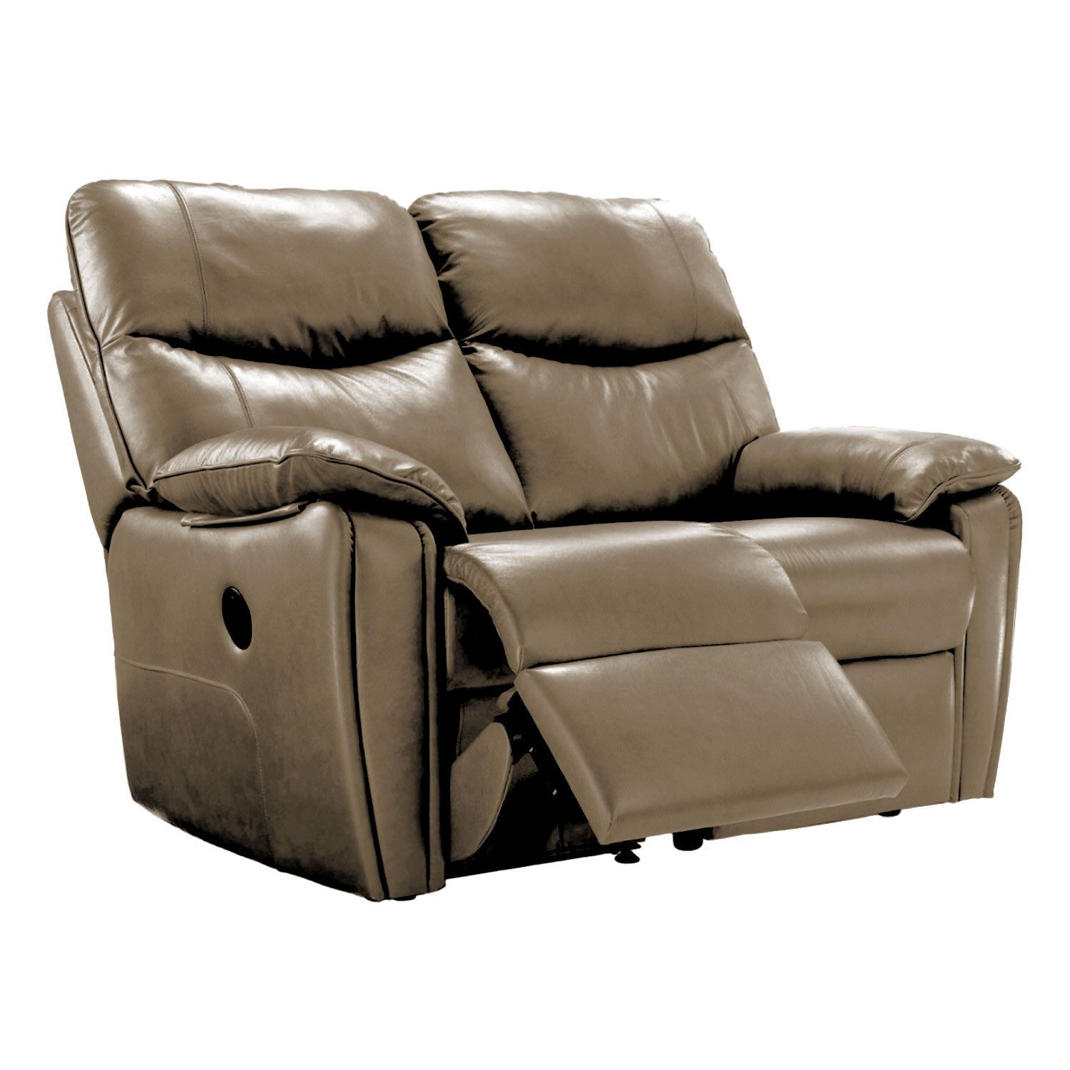 G Plan Henley Two Seater Double Manual Recliner Leather Sofa