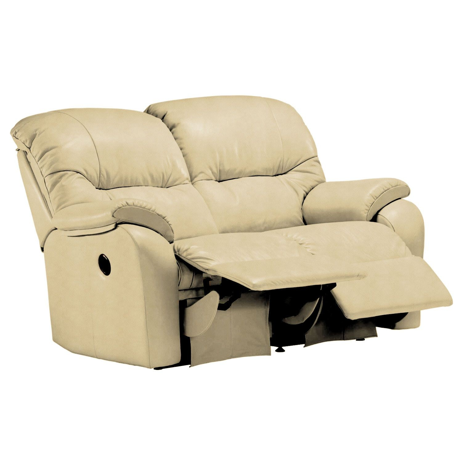 G Plan Mistral Two Seater Double Manual Recliner Leather Sofa