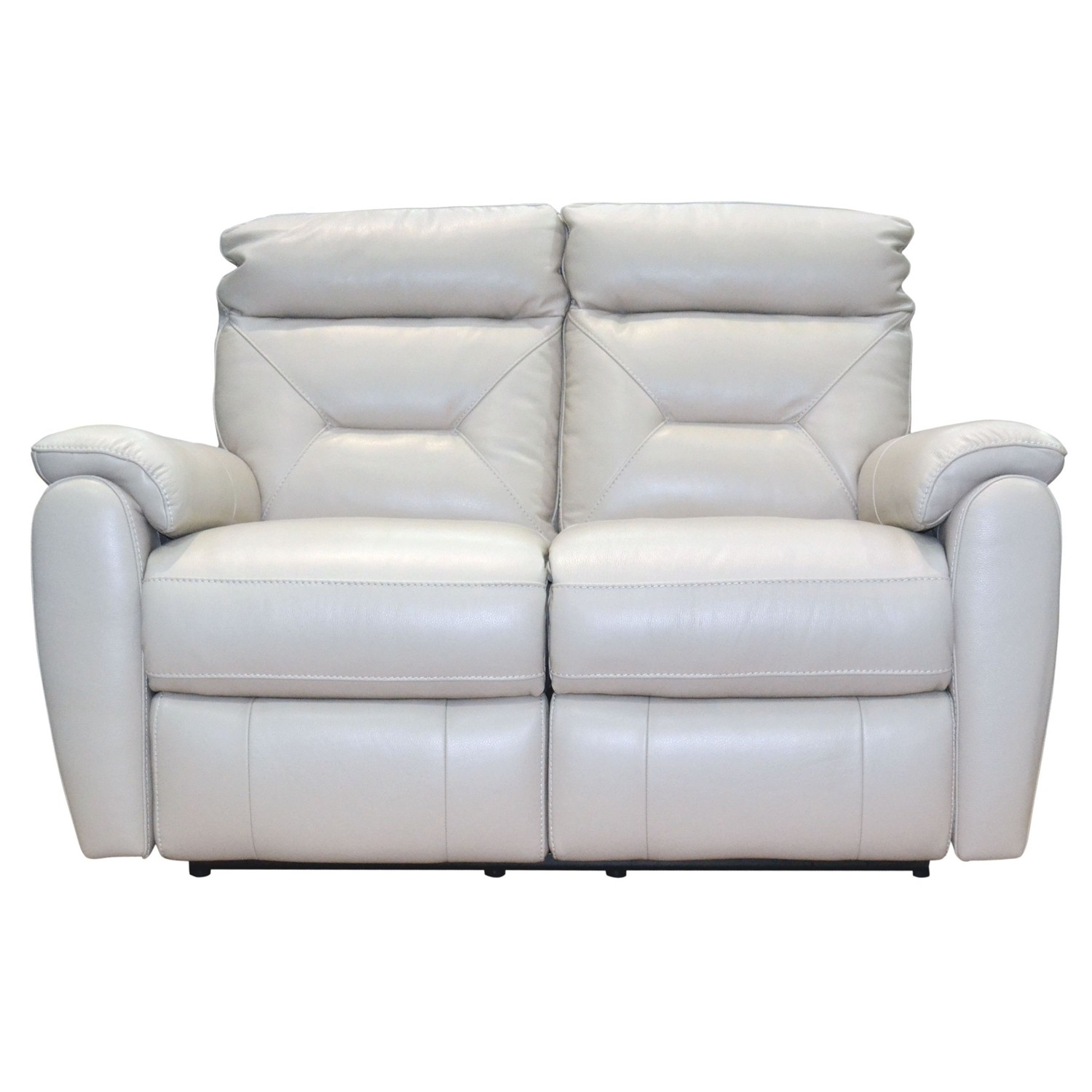 Colorado Two Seater Manual Recliner Leather Sofa