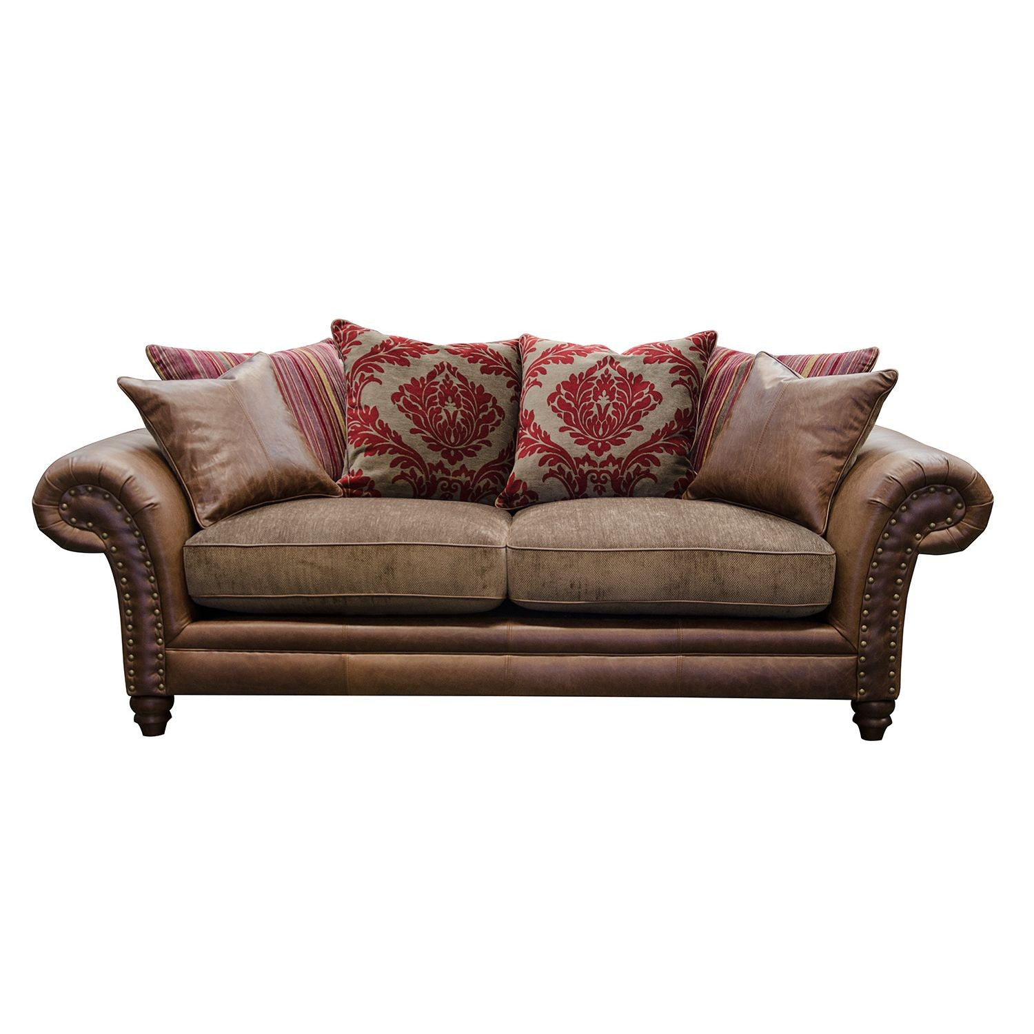 alexander james hudson 2 seater sofa 2 seat jin brown. Black Bedroom Furniture Sets. Home Design Ideas
