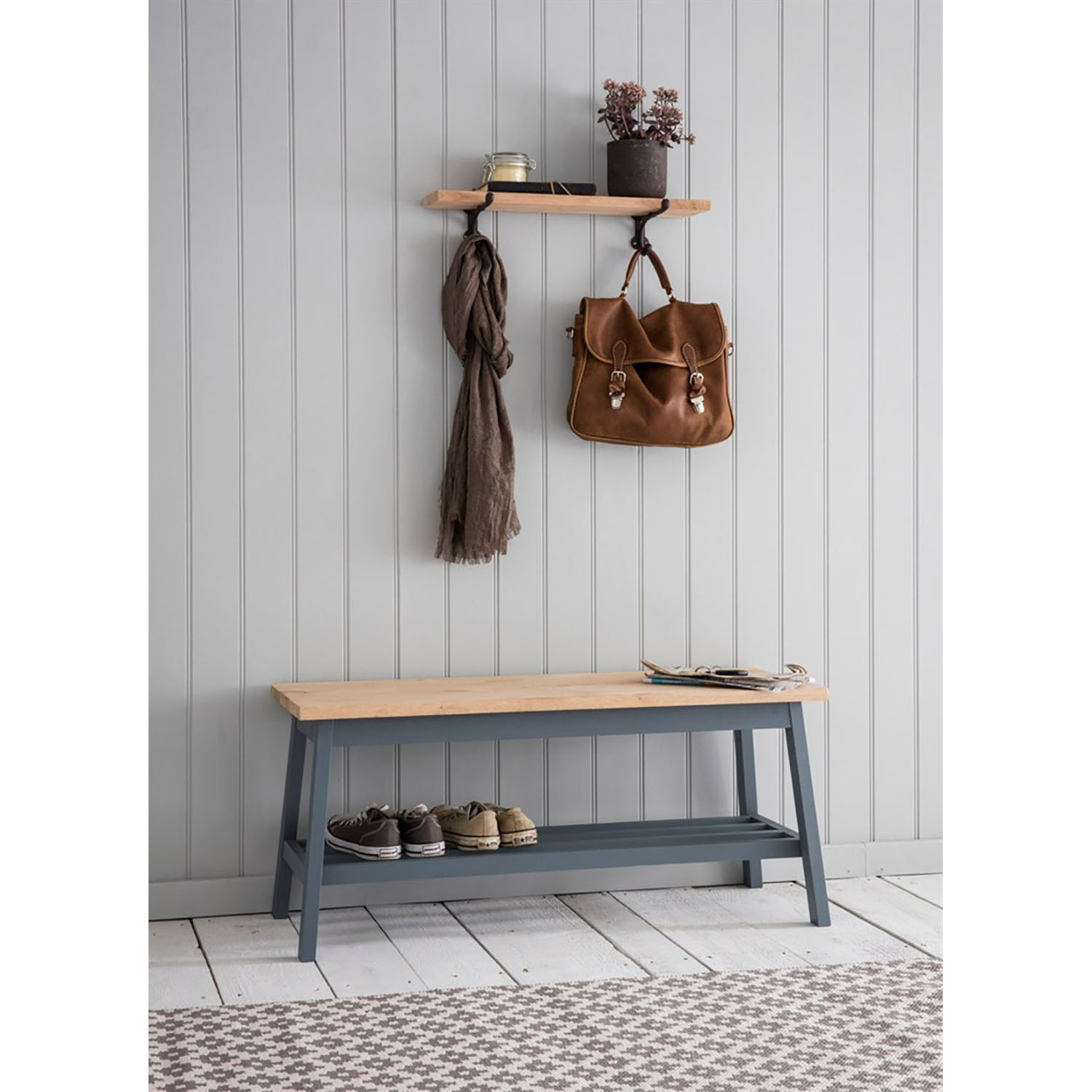 Garden Trading Clockhouse Hallway Bench Charcoal