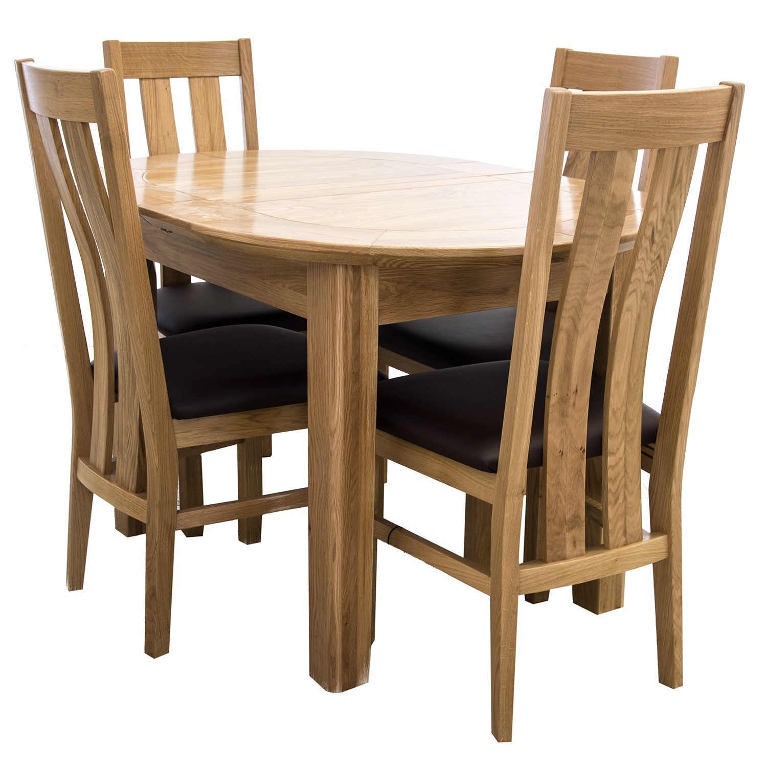 Small Dining Sets For 4: Toulouse Small D-End Dining Table & Four Chairs Dining Set