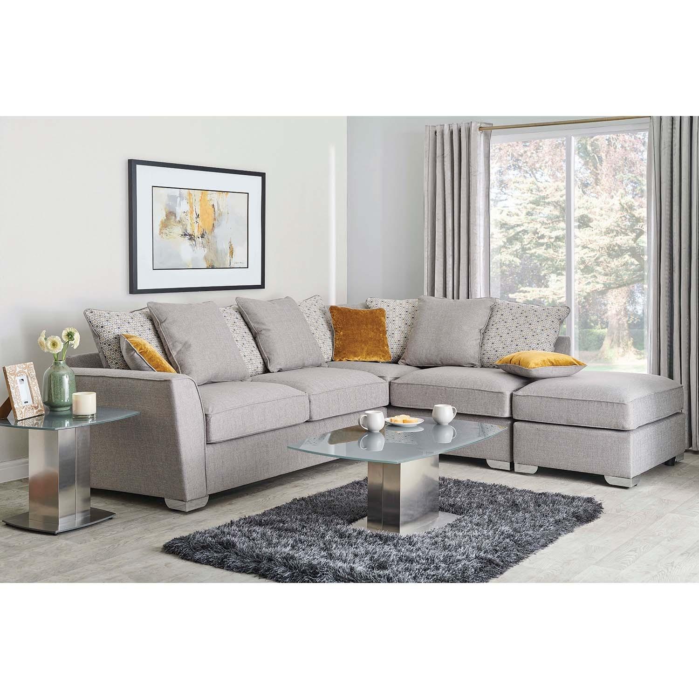 Alana Two Piece Corner Fabric Sofa
