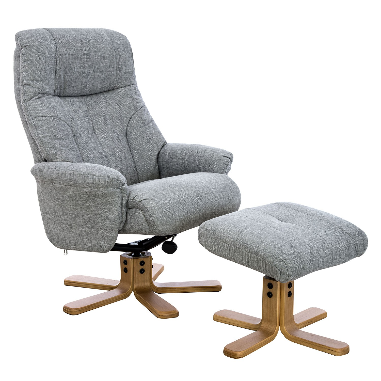 Amazing Trento Swivel Recliner Fabric Chair And Footstool Silver Pdpeps Interior Chair Design Pdpepsorg