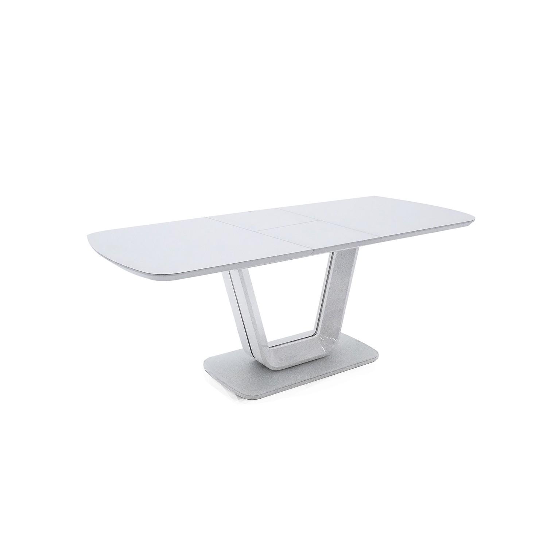 Flamenco Extendable Dining Table 160 200cm White Gloss