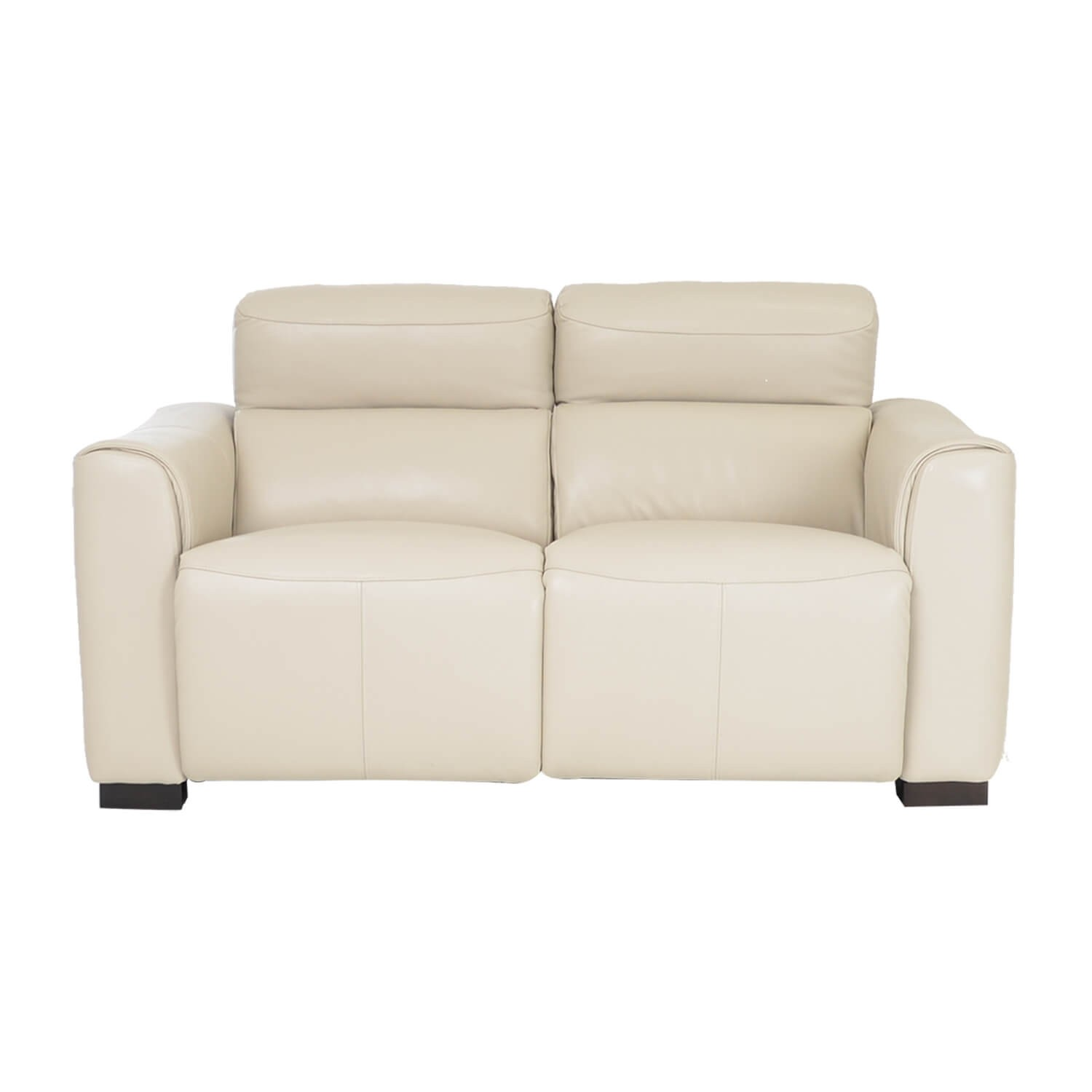 Picture of: Charlie Two Seater Power Recliner Leather Sofa Beige