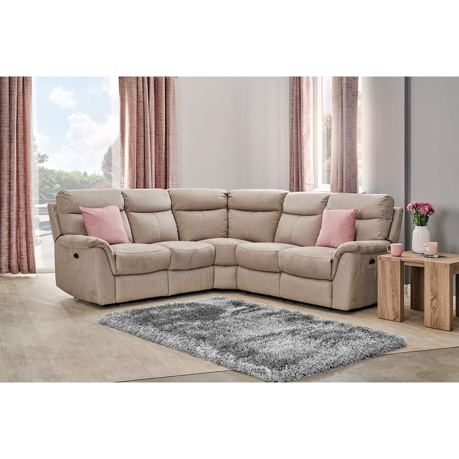 Boston Two x Two Power Corner Group Fabric Sofa