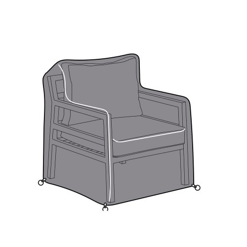 Bari Lounge Chair Cover, grey