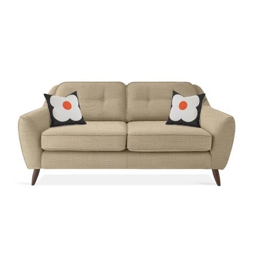 Orla Kiely Laurel Medium Sofa 2.5 Seat, Barrow Vintage Cream