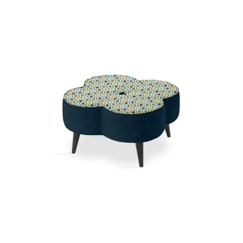 Orla Kiely Daisy Large Stool Footstool, Mini Spot Flower Spring (top)