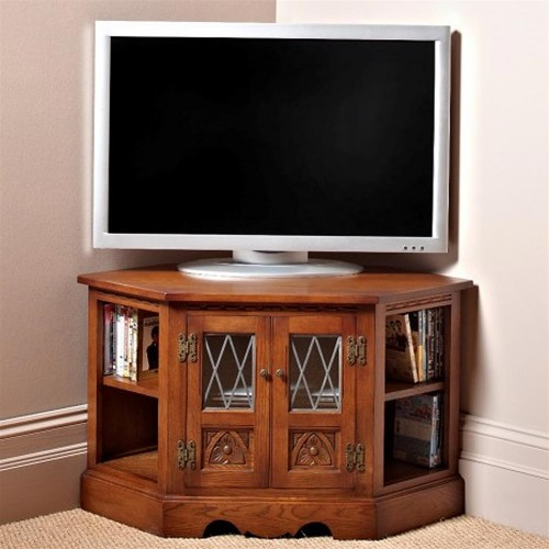 Old Charm TV and Video Cabinet,  Light Oak