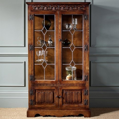 Old Charm Display Cabinet with Light