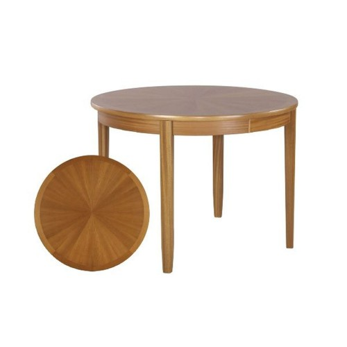 Nathan Furniture Limited Shades Teak Circ Table On Legs