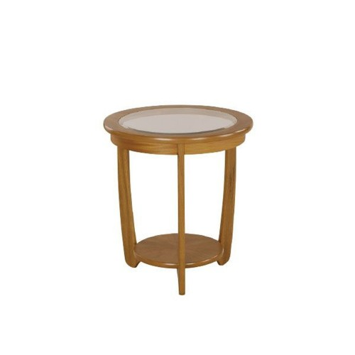 Nathan Furniture Limited Shades Teak Glass Lamp Table