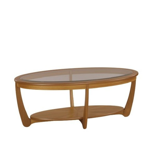 Nathan Furniture Limited Shades Teak Oval Coffee Table