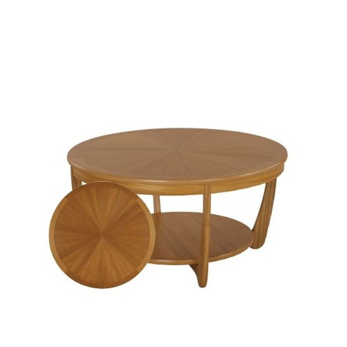 Nathan Furniture Limited Shades Teak Round Coffee Table