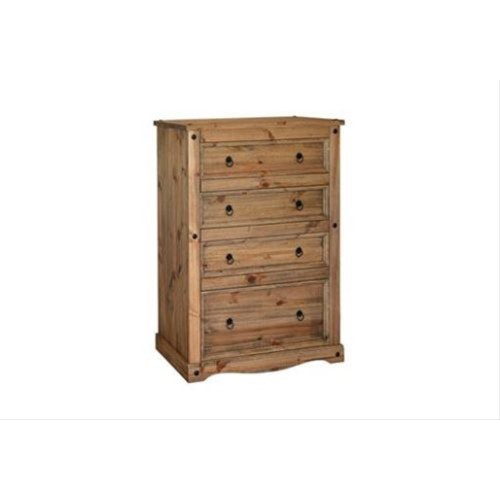 Corona 4 Drawer Chest, Waxed Pine
