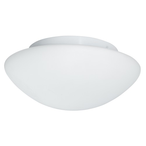 Searchlight Bathroom Flush Light Glass, White