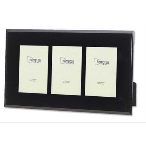 Hampton Noir Glass Multi Aperature Frame 4x6