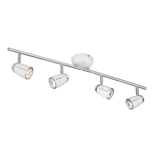 Searchlight 4 Light Split Spot Light Bar, White