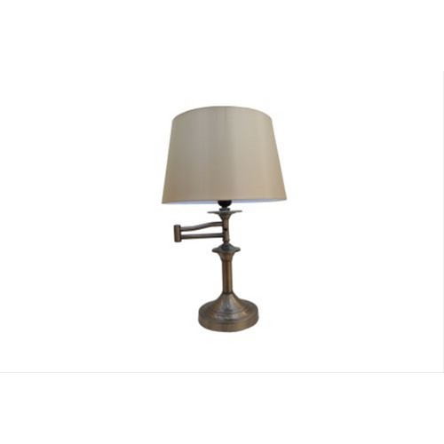 Mellion Swing Arm Table Lamp Antique Brass