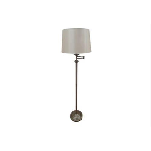 Mellion Swing Arm Floor Lamp Antique Brass