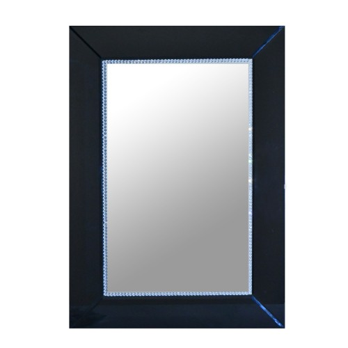 Casa Black Glass Border Mirror