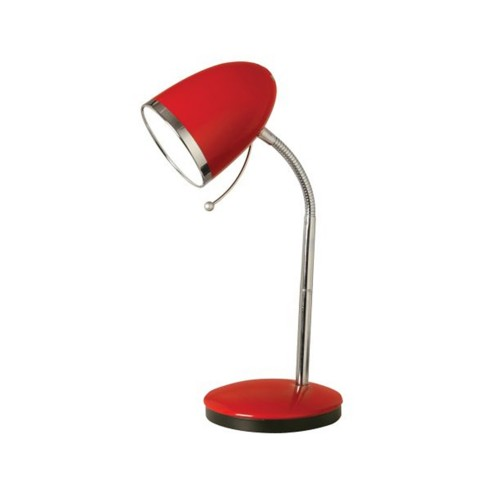 Oaks Lighting Madison Table Lamp, Red