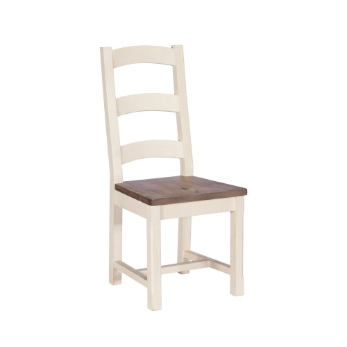 Casa Cotswold Wooden Dining Chair, White