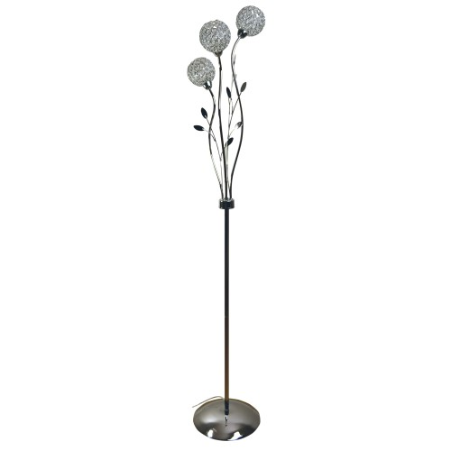 Casa Mirren Floor Lamp, Chrome