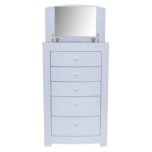 Casa Emily 5 Drawer Chest, White