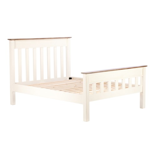 Casa Cotswold Double Panel Bed, White