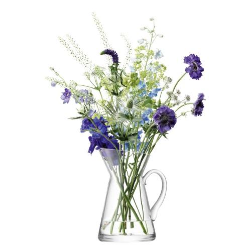 Lsa Flower Jug Vase H26cm, Clear