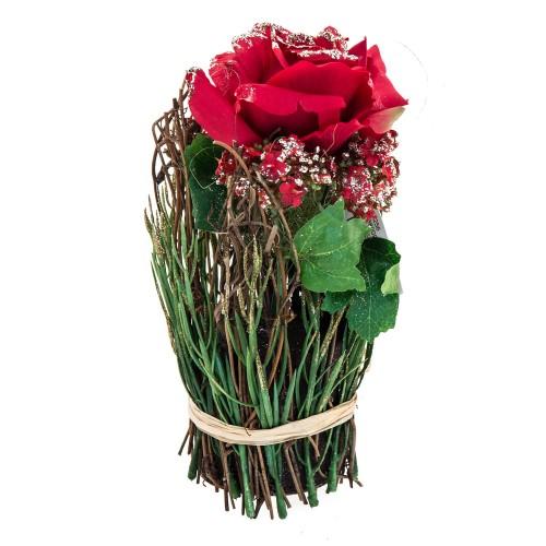 Casa Rose/allium Mixed Bush Red, Red