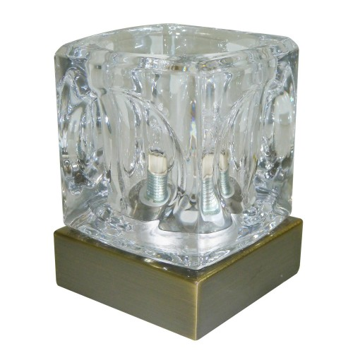 Casa Temple Touch Table Lamp, Antique Brass