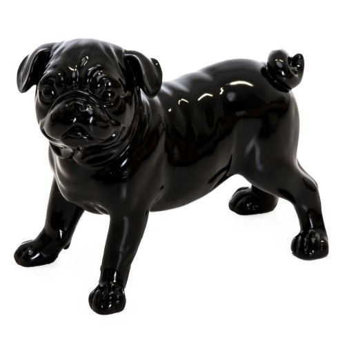 Casa Standing Dog Sculpture, Gloss Black