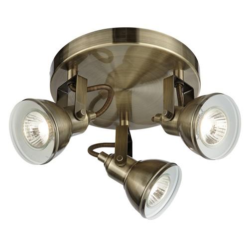 3 Light Antique Brass Spot, Antique Brass