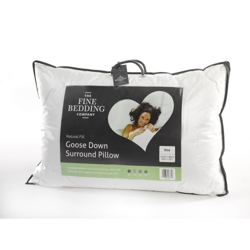 Fine Bedding Company Goose Down Surround Pillow, White