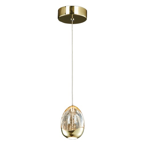 Casa Eden 1 Light Pendant, Gold/champagne