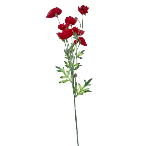 Casa Red Poppy Spray, Red