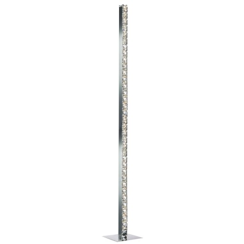 Casa Hatton Led Floor Lamp, Chrome
