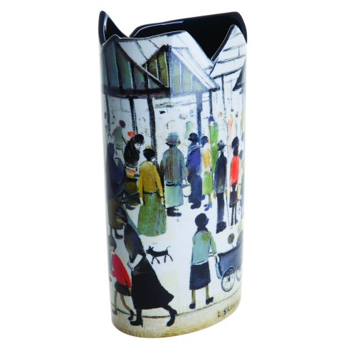 Dartington Crystal Lowry - Market Scene, Multi