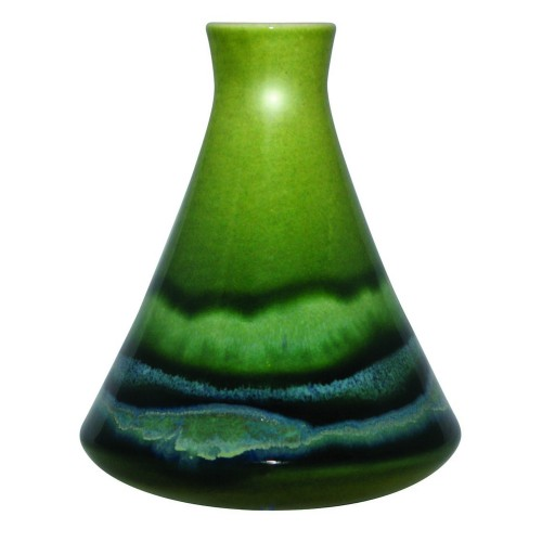 Poole Pottery Maya Conical Bud Vase 12cm, Green/Blue