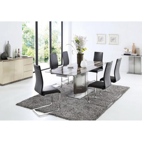 Casa Wave Dining Table & 6 Chairs