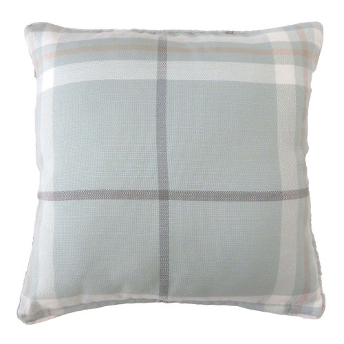 Lomond Check Cushion 43x43, Duckegg