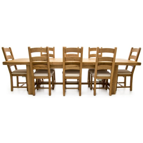 Casa Fairford Large Ext Table And 8 Chairs