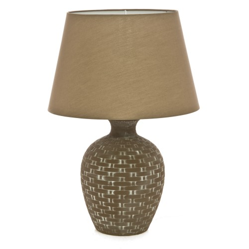 Casa Basket Weave Table Lamp, Brown